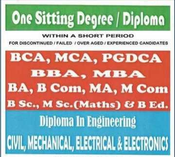 One Sitting Course For Discontinued / Drop Out Students