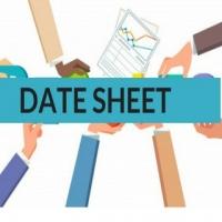 12th Class Open Board Exam Date Sheet - Exam & Results - 664