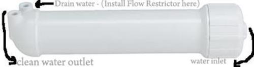 Flow Restrictor For R.O