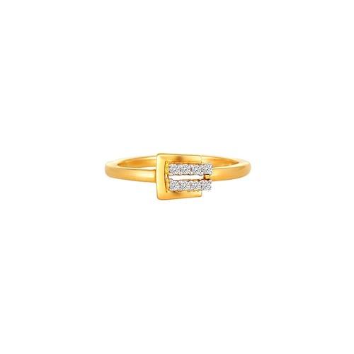 18KT Yellow Gold Diamond Circular Finger Ring