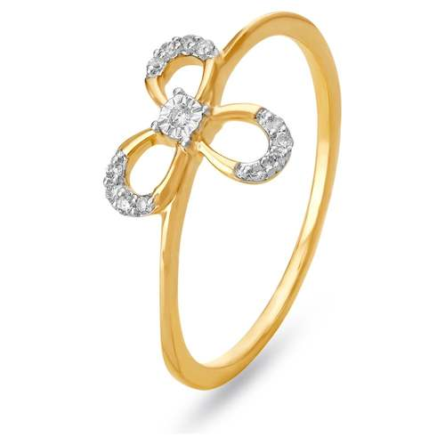 18KT Yellow And White Gold Diamond Finger Ring