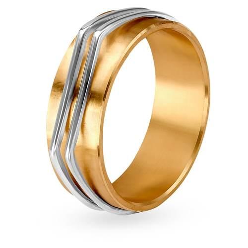 Tanishq Aveer 18KT Yellow & White Gold Finger Ring For Men