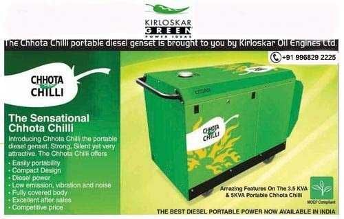 5 Kva Chhota Chilli Kirloskar Generator